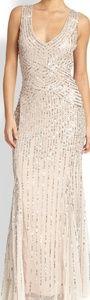 Aidan Maddox Sequin Beaded Dress Gown